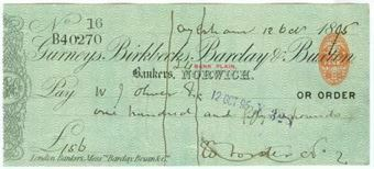 Picture of Gurneys, Birkbecks, Barclay & Buxton, Norwich, 18(93), type 7d