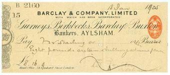 Picture of Aylsham, 18(905), Gurneys, Birkbecks, Barclay & Buxton OTG 7.3