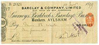 Picture of Aylsham, 18(99), Gurneys, Birkbecks, Barclay & Buxton OTG 7.6 variety