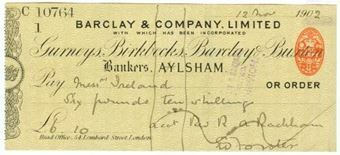 Picture of Aylsham, 190(2), Gurneys, Birkbecks, Barclay & Buxton OTG 7.5