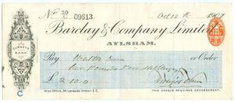 Picture of Aylsham, 190(7), Gurneys Bank,  OTG 64.6a