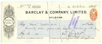Picture of Aylsham, Gurneys Bank, 190(5) OTG 62.3a