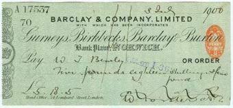 Picture of Bank Plain,  Norwich, Gurneys, Birkbecks, Barclay & Buxton, 1(900), OTG 7.12var2