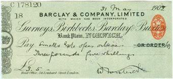 Picture of Bank Plain,  Norwich, Gurneys, Birkbecks, Barclay & Buxton, 190(2) OTG 7.12var3