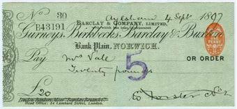 Picture of Bank Plain, Norwich, 18(97), Gurneys, Birkbecks, Barclay & Buxton OTG 7.11