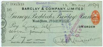 Picture of Bank Plain, Norwich, 18(99), Gurneys, Birkbecks, Barclay & Buxton OTG 7.12var1