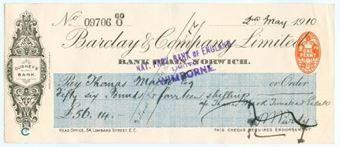 Picture of Bank Plain, Norwich, Gurney's Bank, 19(10), OTG 64.6a