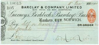 Picture of Ely ovptd Norwich, Gurneys, Birkbecks, Barclay & Buxton, 18 ovptd 190(2), OTG7.8