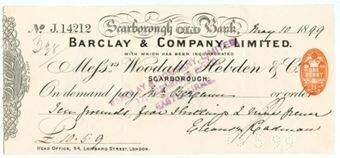Picture of Scarborough Old Bank, 18(99), Woodall, Hebden & Co., OTG 20.1
