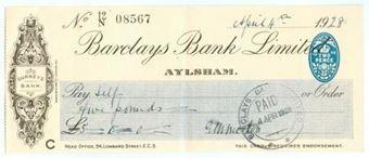 Picture of Aylsham, Gurneys Bank, 19(28) OTG 103.12d