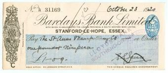 Picture of Stanford-Le-Hope, London Provincial & S.Western Bank Ltd. 19(20), OTG107.3