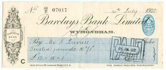 Picture of Wymondham, Gurneys Bank, 19(22) OTG 103.12d