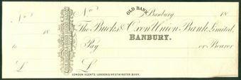 Picture of Bucks & Oxon Union Bank, Perkins Bacon Printer's Proof, Banbury, circa 1870