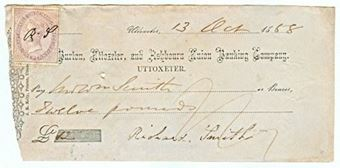 Picture of Burton, Uttoxeter, and Ashbourn Union Banking Co., Uttoxeter, 18(58)