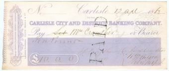 Picture of Carlisle City and District Banking Company, 14 English Street, Carlisle, 18(62)