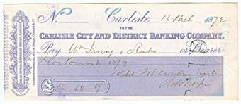 Picture of Carlisle City and District Banking Company, 31 English Street, Carlisle, 18(68)