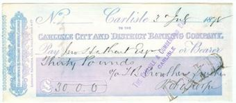 Picture of Carlisle City and District Banking Company, 31 English Street, Carlisle, 18(78)