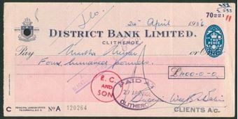 Picture of District Bank Ltd., Clitheroe, 19(56)