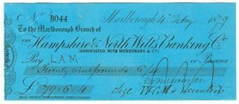 Picture of Hampshire & North Wilts Banking Co., Marlborough, Merrimans & Co., 18(79)