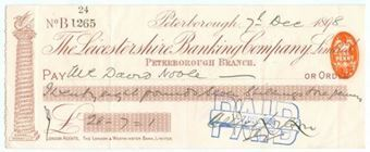 Picture of Leicestershire Banking Company Limited, Peterborough, 189(8)