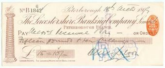 Picture of Leicestershire Banking Company Limited, Peterborough, 189(9)