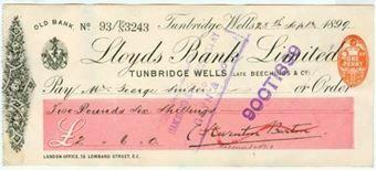 Picture of Old Bank, Tunbridge Wells (late Beechings & Co.), 189(9), Type 6e