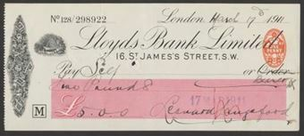 Picture of Lloyds Bank Ltd., 16 St. James's Street, S.W., 19(10), Type 6a