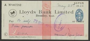 Picture of Lloyds Bank Ltd., Bromley, Kent, 19(33), Type 17a