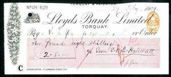 Picture of Lloyds Bank Ltd., Torquay, 19[09], type 8