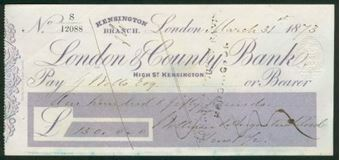 Picture of London & County Bank, High Street, Kensington, 18(73)