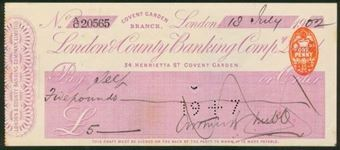Picture of London & County Banking Co. Ltd., 34, Henrietta St, Covent Garden, 19(02)