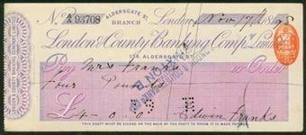 Picture of London & County Banking Co. Ltd., Aldersgate St., 18(98)