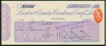 Picture of London & County Banking Co. Ltd., Arundel, 19(00)