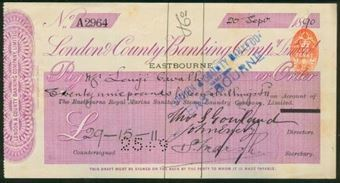 Picture of London & County Banking Co. Ltd., Eastbourne, 18(90), The Eastbourne Royal Marine Laundry