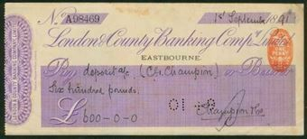 Picture of London & County Banking Co. Ltd., Eastbourne, 18(91)