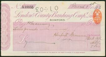 Picture of London & County Banking Co. Ltd., Romford, 18(93)