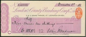 Picture of London & County Banking Co. Ltd., St. Leonards-on-Sea, 19(08)