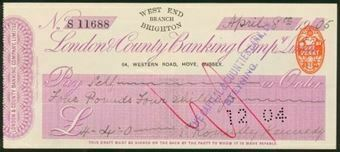 Picture of London & County Banking Co. Ltd., West End Branch, 64 Western Road, Hove, Brighton, 19(05)