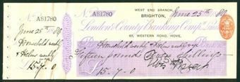 Picture of London & County Banking Co. Ltd., West End Branch, Brighton, 18(89)