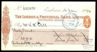 Picture of London & Provincial Bank, Ltd., Eastbourne, 18(94)