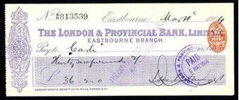 Picture of London & Provincial Bank, Ltd., Eastbourne, 190(3)