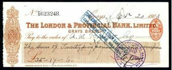 Picture of London & Provincial Bank, Ltd., Grays, 190(3)
