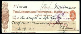Picture of London & Provincial Bank, Ltd., Grays, 191(1)