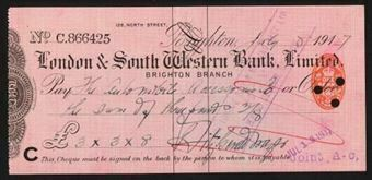 Picture of London & South Western Bank Ltd., Brighton, 191(6)