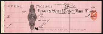 Picture of London & South Western Bank Ltd., Hampstead, 191(0)