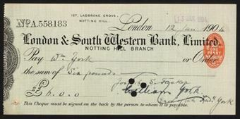 Picture of London & South Western Bank Ltd., Notting Hill, 190(4)