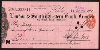 Picture of London & South Western Bank Ltd., Notting Hill, 191(0)