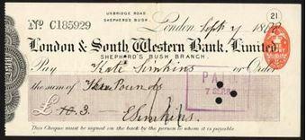 Picture of London & South Western Bank Ltd., Shepherd's Bush, 18(88)
