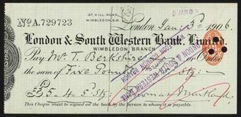 Picture of London & South Western Bank Ltd., Wimbledon, 190(6)