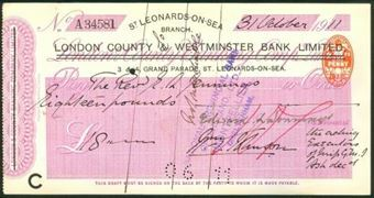 Picture of London County & Westminster Bank Ltd.,  on London & County, St. Leonards-on-Sea,19(11)